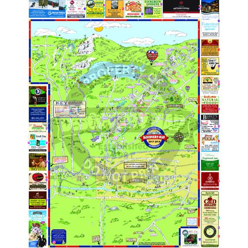 Map Of Waterbury Vermont Waterbury & Richmond, VT